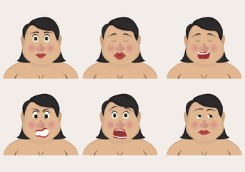 Curvy Woman Emoticons - Free vector #425069