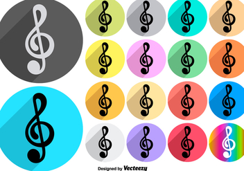 Vector Colorful Music Violin Key Icons - Free vector #425089