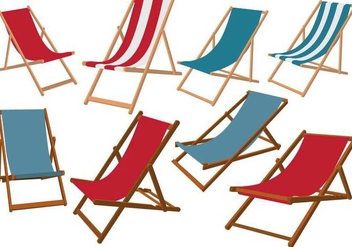 Deck Chair Vectors - бесплатный vector #425109