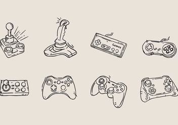 Hand Drawn Arcade Game Icon - vector gratuit #425179