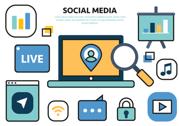 Free Social Media Vector Illustration - vector gratuit #425199