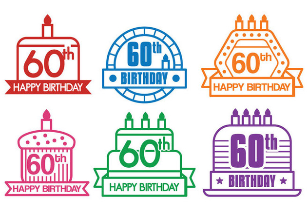 60th vector - vector #425249 gratis