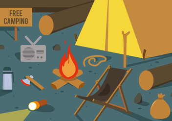 Free Camping Vector Illustration - vector gratuit #425269