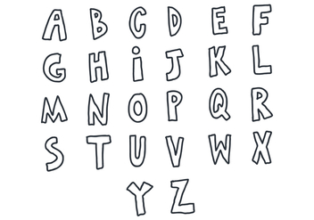 Doodle Letters Vector Pack - Free vector #425289