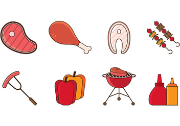 Brochette Icons Vector - бесплатный vector #425409