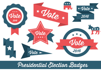 Election Vector Badges and Elements - бесплатный vector #425419