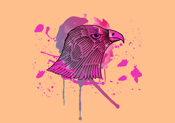 Hawk Inky Watercolor - бесплатный vector #425469