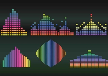 Sound bar vector gradient - Free vector #425639