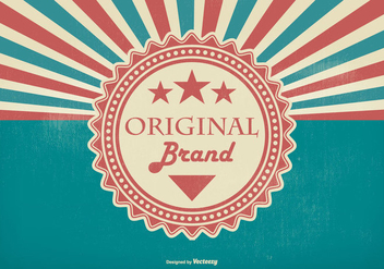 Retro Promotional Original Brand Illustration - vector #425649 gratis