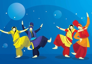 Bhangra Dance Night Outdoor Vector - Kostenloses vector #425659