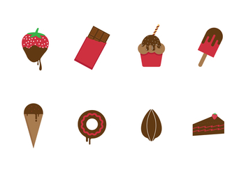 Free Chocolate and Sweets Vector Icons - vector #425719 gratis