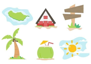 Free Unique Island Vectors - бесплатный vector #425789