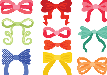 Free Hair Ribbon Vectors - vector gratuit #425829