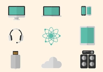 Flat Technology Vectors - vector gratuit #425909