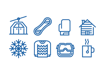 Winter Season Icon Vectors - vector gratuit #425919