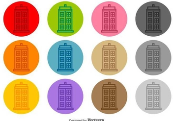 Tardis Vector Line Icons - Free vector #425949