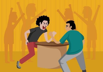 Free Arm Wrestling Illustration - Free vector #426049