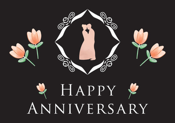Simple Anniversary Card Vector - Kostenloses vector #426059