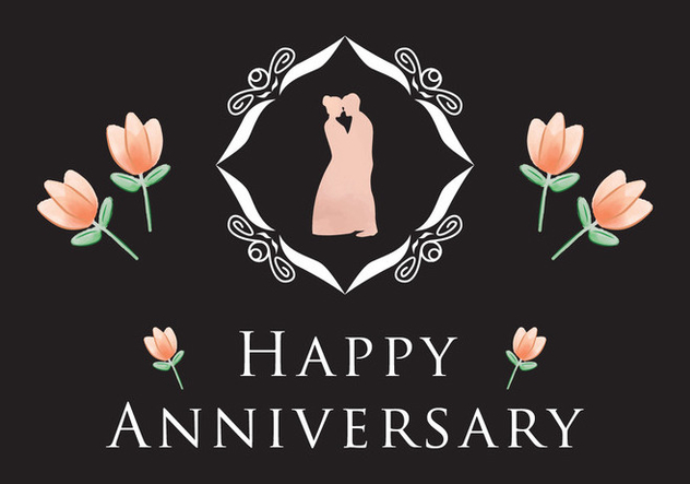 Simple Anniversary Card Vector - Free vector #426059