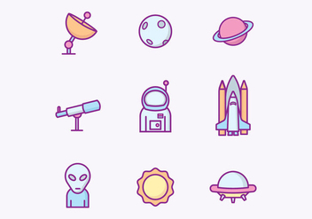 Free Outer Space Icons - vector gratuit #426079