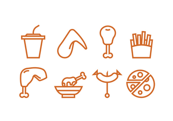 Lunch Meal Icon Vectors - vector #426179 gratis