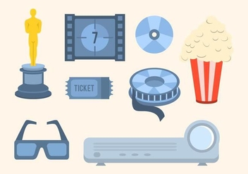 Free Cinema Vector Collection - бесплатный vector #426189