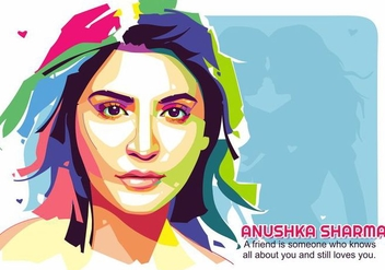Anushka Sharma Bollywood Celebrity Portrait Vector - бесплатный vector #426289