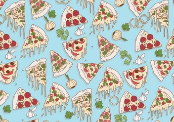 Pizza Pattern Vector - vector #426339 gratis