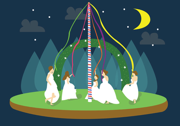 Maypole Brides Vector - бесплатный vector #426359