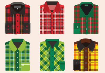 Flannel Shirt Folding Pattern Vector Pack - Free vector #426369