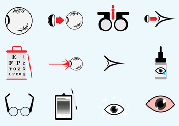 Optometry Icons Set - Kostenloses vector #426379