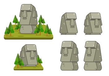 Easter Island Vector Illustration - Free vector #426409