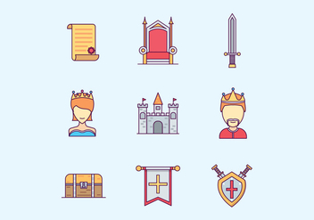Medieval Kingdom Icons Set - Free vector #426419