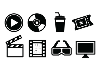 Free Movie Icon Set - vector gratuit #426449