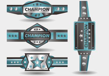 Blue Championship Belt Vector Design - бесплатный vector #426479