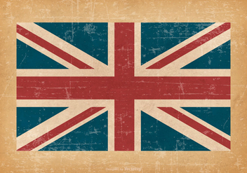 British Flag On Grunge Background - vector #426549 gratis