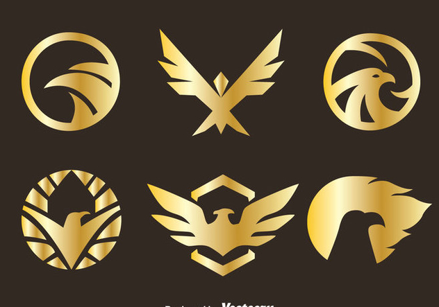 Golden Eagle Seal Vectors - Free vector #426569