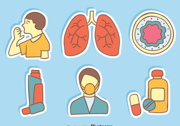 Asthma Element Vectors - vector gratuit #426579