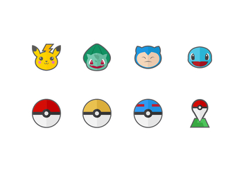 Free Pokemon Vector Icons - vector gratuit #426619