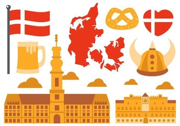 Free Danish Element Vector - vector #426629 gratis