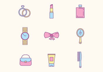 Women Beauty Icons - vector #426639 gratis