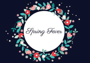 Free Vector Spring Flower Wreath - Kostenloses vector #426679
