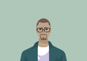 Stylish Man's Headshot Vector - Free vector #426709