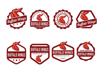 Buffalo Wings Badge Vector - Free vector #426729