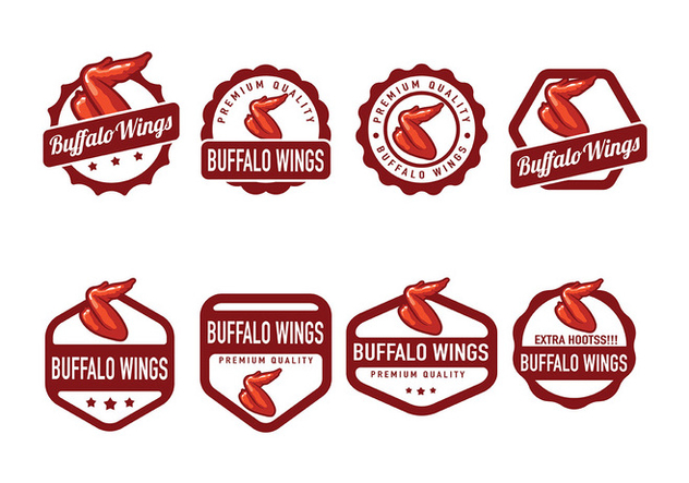Buffalo Wings Badge Vector - vector gratuit #426729