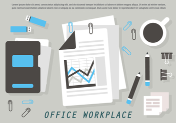 Free Office Workplace Vector Illustration - Kostenloses vector #426739
