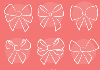 Sketch Hair Ribbon Vectors - Free vector #426799