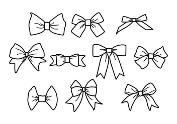 Free Hair Ribbon Vector - Free vector #426839