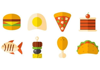 Free Fast Food And Snack Icons Vector - vector gratuit #426879