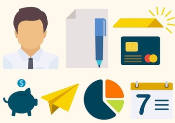 Flat Business Vectors - Free vector #426899